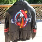 WALT DISNEY EPCOT MISSION: SPACE LEATHER BOMBER JACKET-SZ M-THE HOLY GRAIL of THEMED MERCHANDISE!