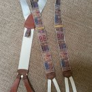 TRAFALGAR LIMITED EDITION LEGAL THEME SCALES OF JUSTICE PATTERN SUSPENDERS/BRACES - NEW WITHOUT BOX!
