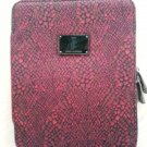 Juicy Couture 'Red Snakeskin' print 2-Way Zip-Around CUSHY iPad Case with Plush interior!