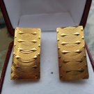 Vintage Gold Rectangular Cufflinks!