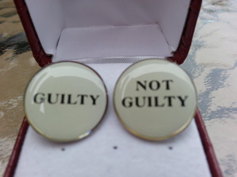 """Legal Decision Maker Cufflinks """"GUILTY"""" & """"NOT GUILTY"""" by Cufflinks!"""