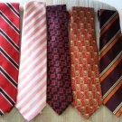 DESIGNER NECK TIES - LOT OF 5 - AUTHENTIC - VALENTINO,BROOKS BROTHERS,CHARLES TRYWHITT,MARK CROSS!