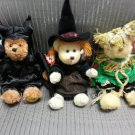 TY ATTIC TREASURES HALLOWEEN TRIO-VLAD the BAT, HAGATHA the WITCH & ALFALFA the SCARECROW-RETIRED!