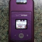 MOTOROLA W755 Clamshell CDMA Phone with EXTRA BATTERY, AC ADAPTER + EXTRA, CASE & MANUAL!