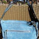 COACH Denim Blue Soho Suede Leather Tassel Shoulder Bag - EXCELLENT!