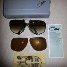 Cazal Targa 902 design, original from 1980's; NO retro sunglasses - 2 sets of lenses & leather case!