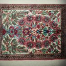 """SILK QUM"" TREE OF LIFE HANDMADE SILK RUG - ONLY HUNG ON WALL FOR DISPLAY!"