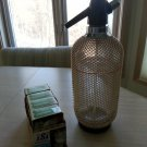 ACC Handmade American Crystal Syphon Seltzer Dispenser w/ 39 CO2 Cartridges-Made in Czechoslovakia!