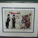 CHUPPAH WEDDING I S/N JEWISH LIMITED-EDITION LITHOGRAPH by JOVAN OBICAN - MATTED & FRAMED!