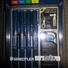 Staedtler Marsmatic 700 Set of 4 Technical Pens .30mm/.35mm/.45mm/.50mm - GERMANY!
