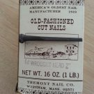 Old-Fashioned Cut 6d Wrought Iron Head Nails 2.5 inch 1 LB. 8 OZ.!