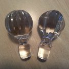 Pair of Vintage Lead Crystal Bottle Stoppers!