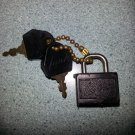 Vintage Mini Padlock with 2 Keys for Lark Luggage or Trinket Box or Diary!