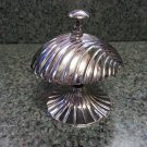 Seashell Hotel Counter Desk Service Bell - Brass with Chrome Finish - Unusual!