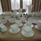 WESTMORELAND PANELED GRAPE MILKGLASS Collection - LOT of 38 PIECES - GORGEOUS!
