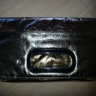 Sondra Roberts Tri-Color Leather Metallic Fold-Over Clutch Style Purse - UNIQUE!