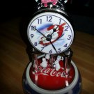 Coca Cola Polar Bear Collection Glass Dome Carousel Clock!