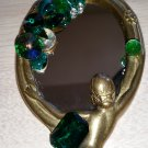 "Vintage Gypsi Di ""One and Only"" Jewel Encrusted Hand Mirror - She sees her reflection!"