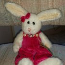 "BOYDS BEARS INVESTMENT ""Ashley "" White Rabbit Easter Bunny 14"" Plush with Tag - Retired - #5198!"
