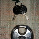 "Chateau C99X 2.75"" Round Security Lock W/ 2 Keys - Silver Stainless Steel!"