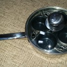 18/10 Induction 4-Cup Egg Cooker/Poacher - Saute Pan with See through Lid!