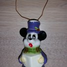 Vintage Disney Japan Mickey Mouse Caroling (Choir) Figurine Ornament - Unusual - from the 1970's!