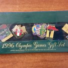 1996 Olympic Games Gift Set of 5 Collectible Pins - Atlanta Georgia - AUTHENTIC - SEALED IN BOX!