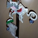 "SILVESTRI FANCIFUL FLIGHTS PRINCESS CAT ORNAMENT signed by Karen Rossi - ""BOW TO YOUR PRINCESS""!!"