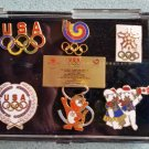 Olympic Pin Set 1988 Commemorative Set Team Mascots Cloisonne Collectors Pins!
