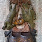 CAST IRON PAINTED FINISH HUNTERS DOUBLE GAME BAG WALL POCKET / MATCH SAFE HOLDER!
