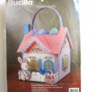Bucilla Easter Bunny House Basket Needlepoint Kit #61235 - Plastic Canvas!