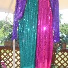 "GEMINI NITES SEQUINED SILK DRESS PLUS SZ 22 EVENING WEAR or HALLOWEEN ""MIMI""-CROSSDRESS-TRANSGENDER!"
