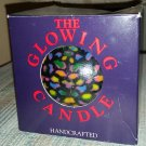 Striking Multi Color Design Round Candle by The Glowing Candle Factory - LASTS YEARS & YEARS!