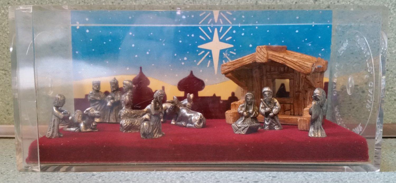 Hudson mini world Storybox Collection Pewter nativity set