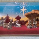 "Hudson mini world Storybox Collection Pewter nativity set ""A Child Is Born: King Of Kings"" (1983)!"