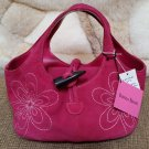"Donna Dixon ""Think Pink"" Fuschia Suede Hand Bag Purse Tote by Paradise Bag Company - NEW WITH TAGS!"