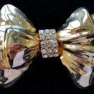 Sparkling Rhinestone Bow Pin Brooch - LARGE & BOLD - MAKE A STATEMENT!
