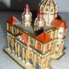 Vatican St. Peter's Basilica Bejeweled Enamel Trinket Box #4143!