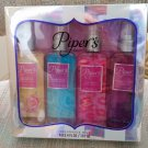 Piper's Perfumery 4 Pc Fragrance Set - Sea Salt & Rosewater, Sheer Blue, Eye Candy, Naughty & Nice!