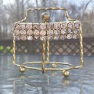 Vintage Rhinestone Barrette - 3 Rows of Large Clear Rhinestones - Simple Elegant Design!