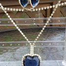 """Titanic"" Necklace & Earring Set - Inspired by the Heart of the Ocean!"