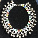 Indian Bead Ankle Bracelet Anklet Payal Ghungroo - White Multi!