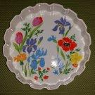 "Vintage SIGMA TASTE SETTER ""PRIMAVERA"" Porcelain Ovenware 9-1/2"" Tart, Quiche, Pie Pan!"