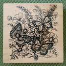 Butterfly Bouquet Wood Mounted Rubber Stamp #K-1377 by PSX from 1995 - MADE IN USA - RETIRED - NEW!