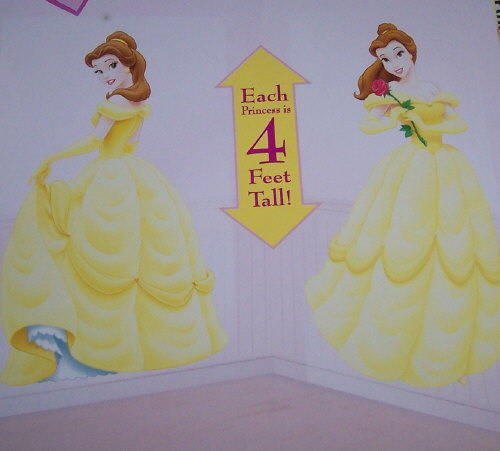 Disney Princess Belle Party Supplies 4 Feet Mural