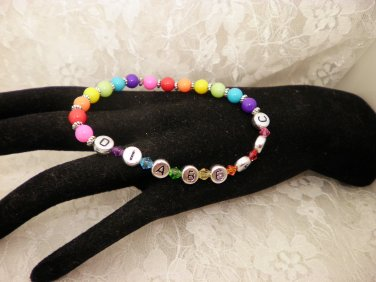 All Colored Diabetic Awareness Bracelet