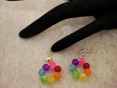 Cool Beaded Hoop style Earrings
