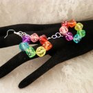 Colored Dice Earrings