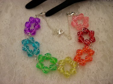 Bib Color Dice Necklace