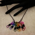 Black Beaded Fringe Necklace